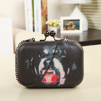 Bags Dogs Box Vintage Chain One Shoulder Messenger Bags [6581201287]