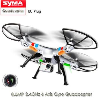 Original SYMA X8G RC Drone 8MP Wide Angle HD Camera Quadcopter 2.4G RC Helicopter 3D Roll Stumbling Dron Toys VS X8W MJX X101
