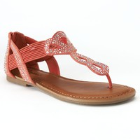 Candie's Women's Embellished T-Strap Sandals