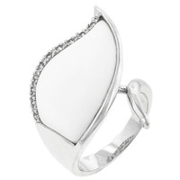 Snow Cap Cocktail Ring, size : 05