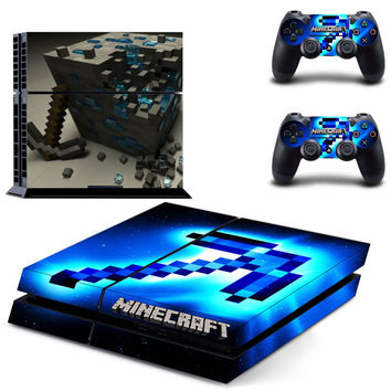 Minecraft decal for ps4 console skin sticker