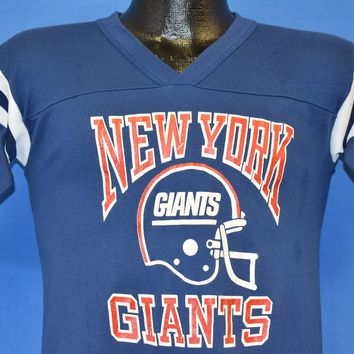 80s New York Giants NFL Football V-Neck Jersey t-shirt Small