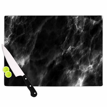 "Chelsea Victoria ""Black Marble"" Modern White Cutting Board"