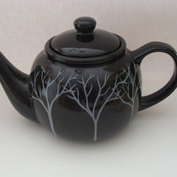 Tree Teapot Hand Painted