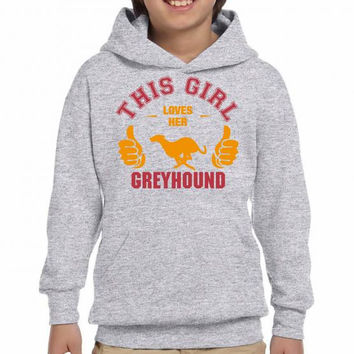 this girl loves her greyhound t shirt design Youth Hoodie