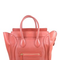 Celine Red Luggage Tote