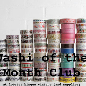 3 Month Subscription to Washi of the Month Club, Gift for Daughter or In Law, Quirky Gift or Unique Gift for Women or Men