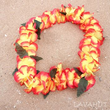 Orange Luau Flower Lei