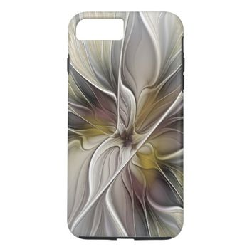 Floral Fractal, Fantasy Flower with Earth Colors iPhone 8 Plus/7 Plus Case
