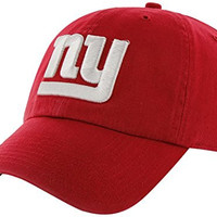 NFL New York Giants Men's Clean Up Cap, Red, One Size