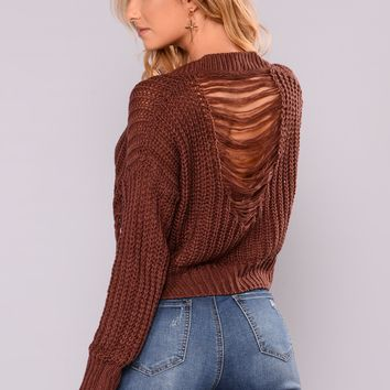 Coralie Long Sleeve Sweater - Plum