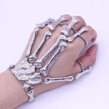 Full Skeleton Hand Bracelet/ Ring Set