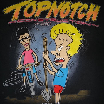 New Year Sale Beavis And Butthead T Shirt Top Notch Construction Cool Shirt X~LARGE