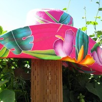 Hot Pink Peach Wide Brim Sunhat Womens | Luulla