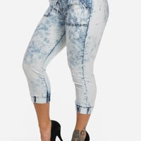 High Waisted Bermuda Joggers And Denim Overalls