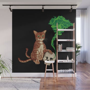 Nekomata cat Wall Mural by savousepate
