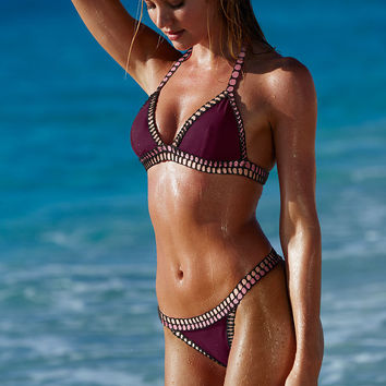 The Crochet-trim Teeny Triangle Top - Victoria's Secret Swim - Victoria's Secret