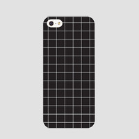 Black grid phonecase
