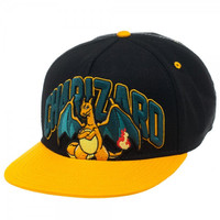 Pokemon - Charizard Black Snapback