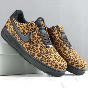 Nike Leopard grain Fashion Casual Men Running Sport Casual Shoes Sneakers Brown G-SSRS-CJZX