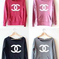 Women Crop Sweatshirt - Chanel LOGO
