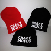 CRAZY MOFOS winter beanie one direction by winteriscoming2012
