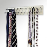 "Tie and/or Necklace Rack - 14"" White"