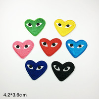 eye patch Clothes brand funny Embroidery Applique patch heart patch Embroidered patches logo iron on patch sew on patch 4.2*3.6cm(A115)