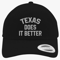 I Love Texas, Does It Better Embroidered Cotton Twill Hat