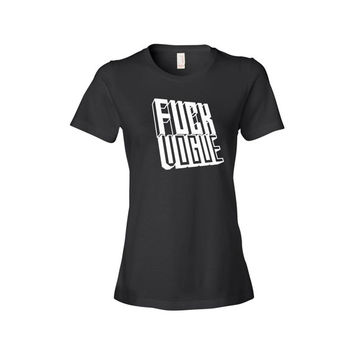 Black T Shirt Graphic Print Women's Funny Tee Meme Wannabe Tumblr Vogue