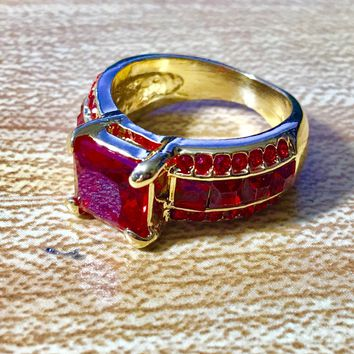 Ruby Red Fashion Ring