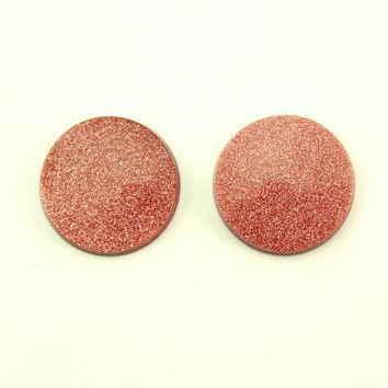 Goldstone 15 mm Round Magnetic Non Pierced Clip On Earrings