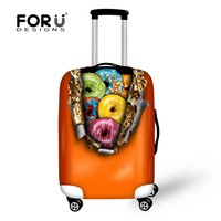 Candy Color Doughnut Luggage Protection Cover For 18-30 inch Suitcases Fashion Elastic Luggage Cover Travel Suitcase Accessories