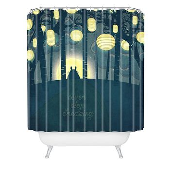 Belle13 Totoros Dream Forest Shower Curtain
