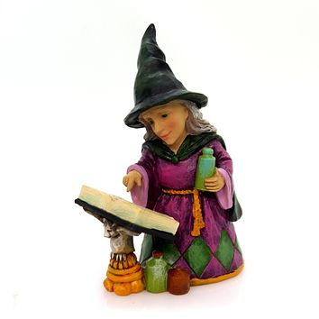 Jim Shore Witch Potion Spell Book Mini Halloween Figurine