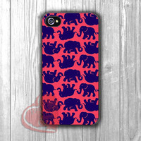 Lily Pulitzer Elephant Pattern-1nny for iPhone 4/4S/5/5S/5C/6/ 6+,samsung S3/S4/S5,samsung note 3/4