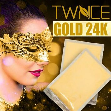 Luxury Spa Treatment Face Mask 24K Gold Collagen Powder Anti-Aging