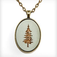 Fir Tree Pendant Necklace