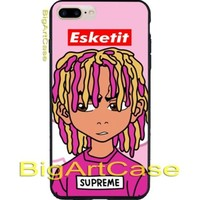 Best New Lil Pump Esketit Supreme Print On CASE COVER iPhone 6s/6s+/7/7+/8/8+, X