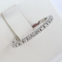 Eternity band diamond ring engagement ring wedding ring white gold 1.8mm wide