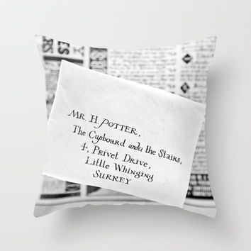Mail for Harry Potter Throw Pillow by Basma Gallery