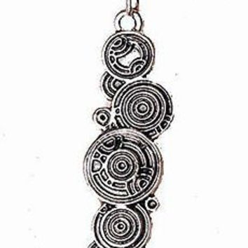 "Basket Hill Watches, Silver Tone "" DR Who Tardis / Gallifreyan Key Necklace"