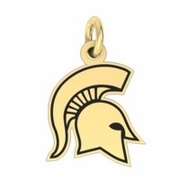 Buy Michigan State Spartans 14K Yellow Gold College Charms and Jewelry, Get Fast Free Shipping