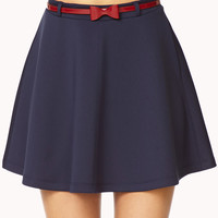 Scuba Knit Skater Skirt w/Belt