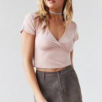 Kimchi Blue Celine Cross-Front Crop Top | Urban Outfitters