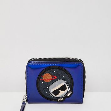 Karl Lagerfeld space zip wallet at asos.com