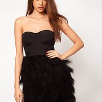 ASOS Dress with Feather Skirt at asos.com