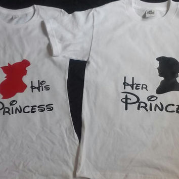 Free Shipping for US Ariel & Eric The Little Mermaid Prince and Princess Tank Tops
