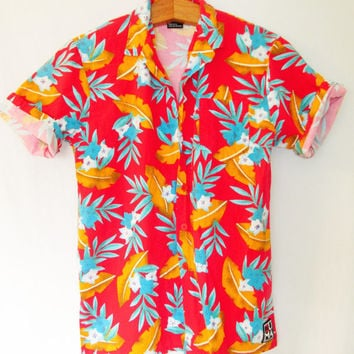 Vintage 1990s Hawaiian Short Sleeve Buttondown Shirt
