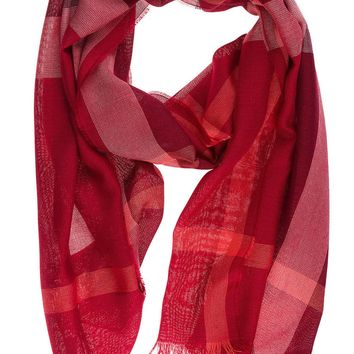 BURBERRY WOMEN'S SCARF NEW PINK 2E6